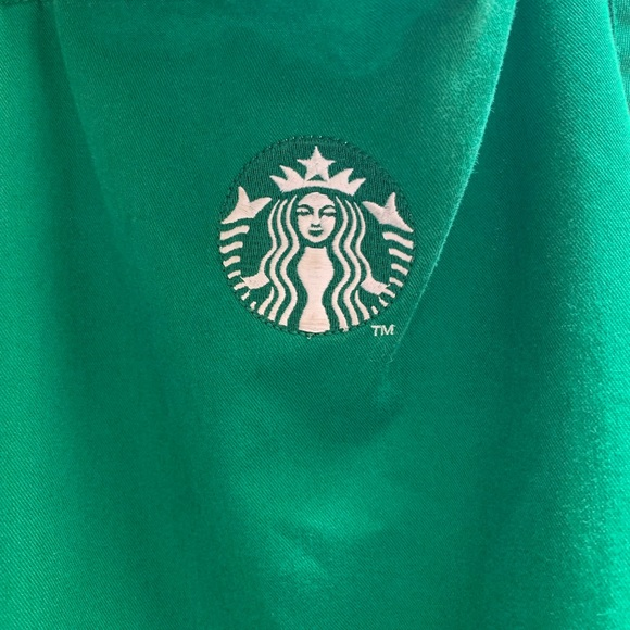 Starbucks green apron